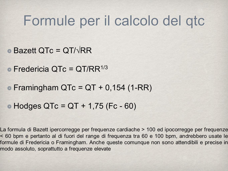 Formule per il calcolo del qtc