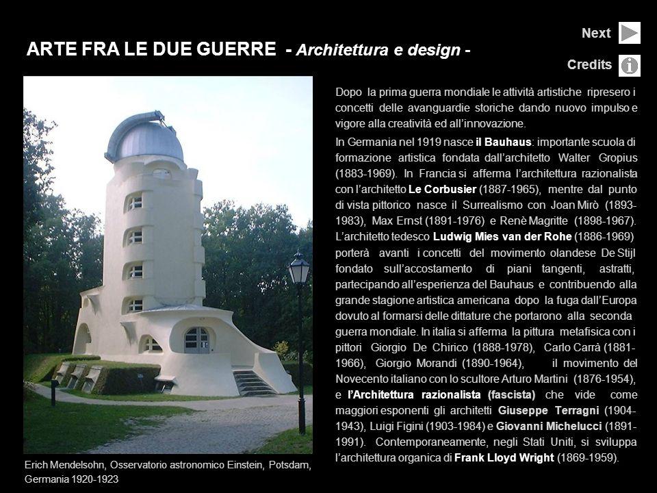 ARTE FRA LE DUE GUERRE - Architettura e design -