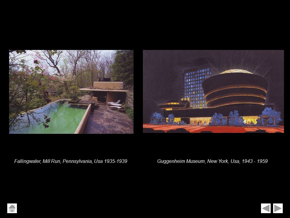 Fallingwater, Mill Run, Pennsylvania, Usa 1935-1939
