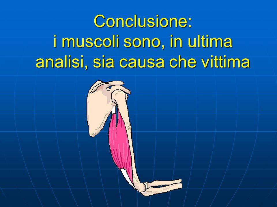 Conclusione: i muscoli sono, in ultima analisi, sia causa che vittima