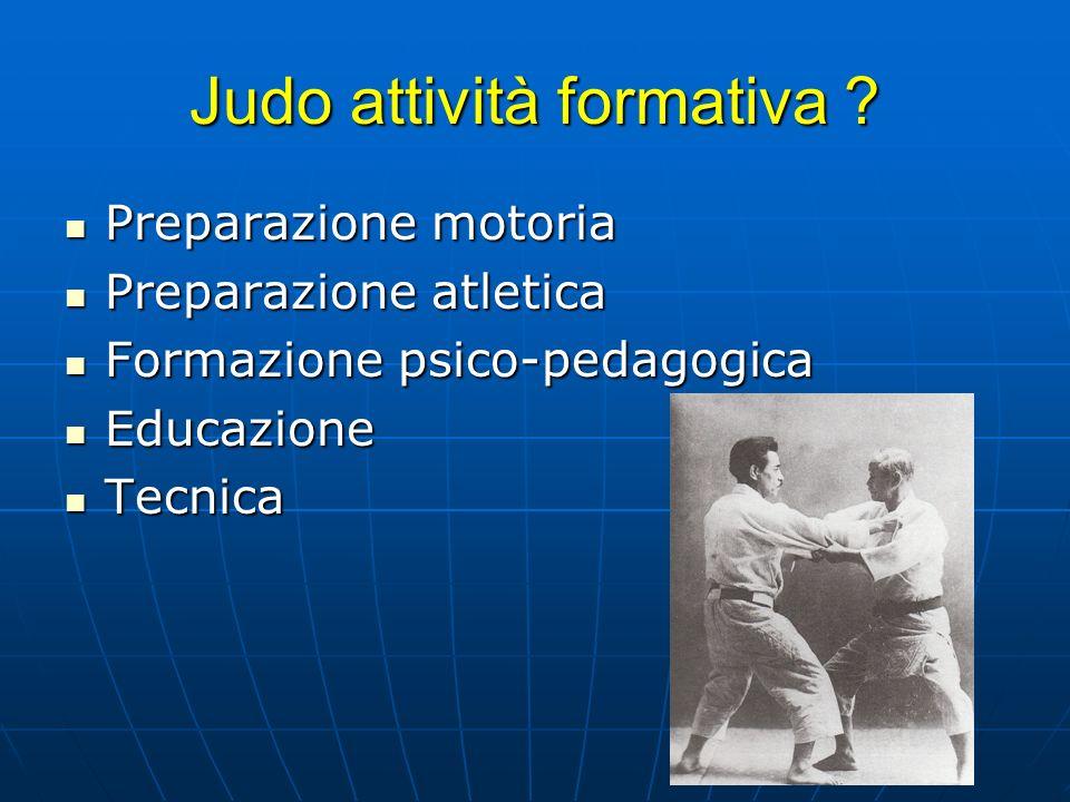 Judo attività formativa