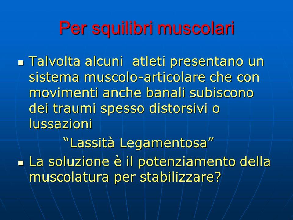 Per squilibri muscolari