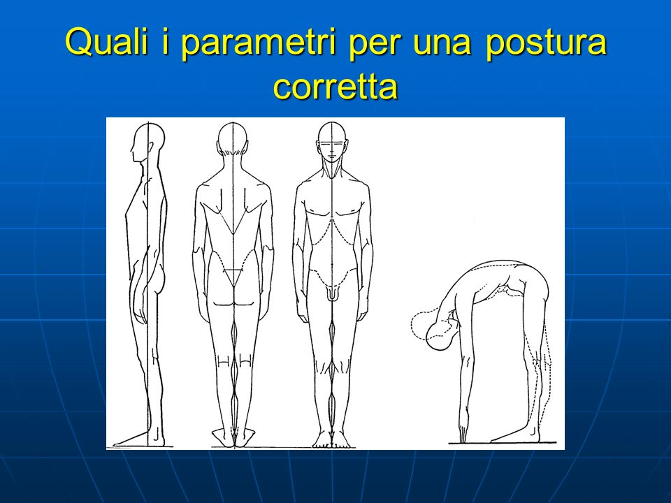 Quali i parametri per una postura corretta