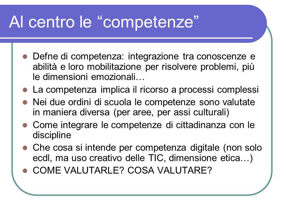 Al centro le competenze