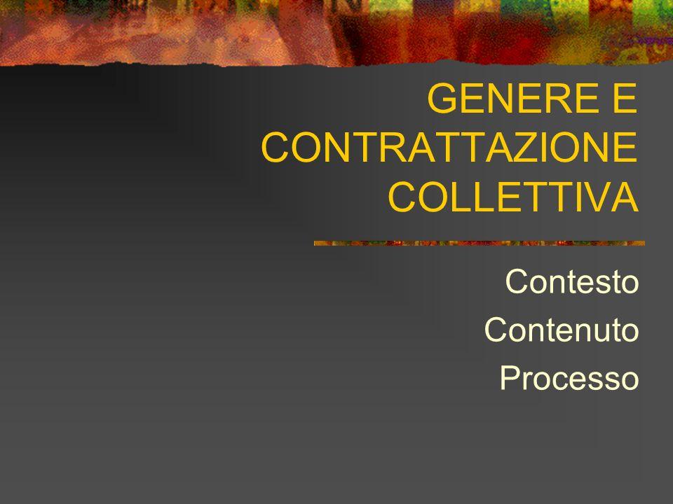 GENERE E CONTRATTAZIONE COLLETTIVA