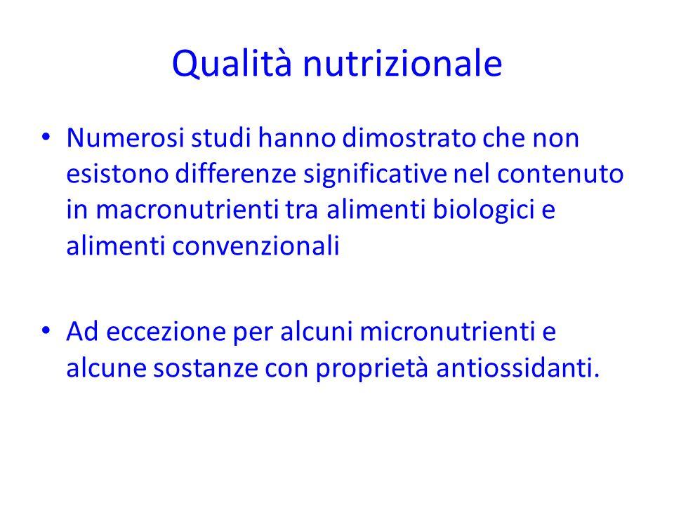 Qualità nutrizionale