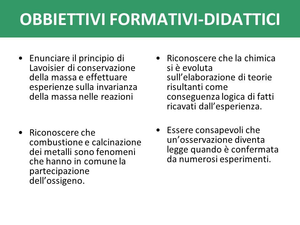 OBBIETTIVI FORMATIVI-DIDATTICI