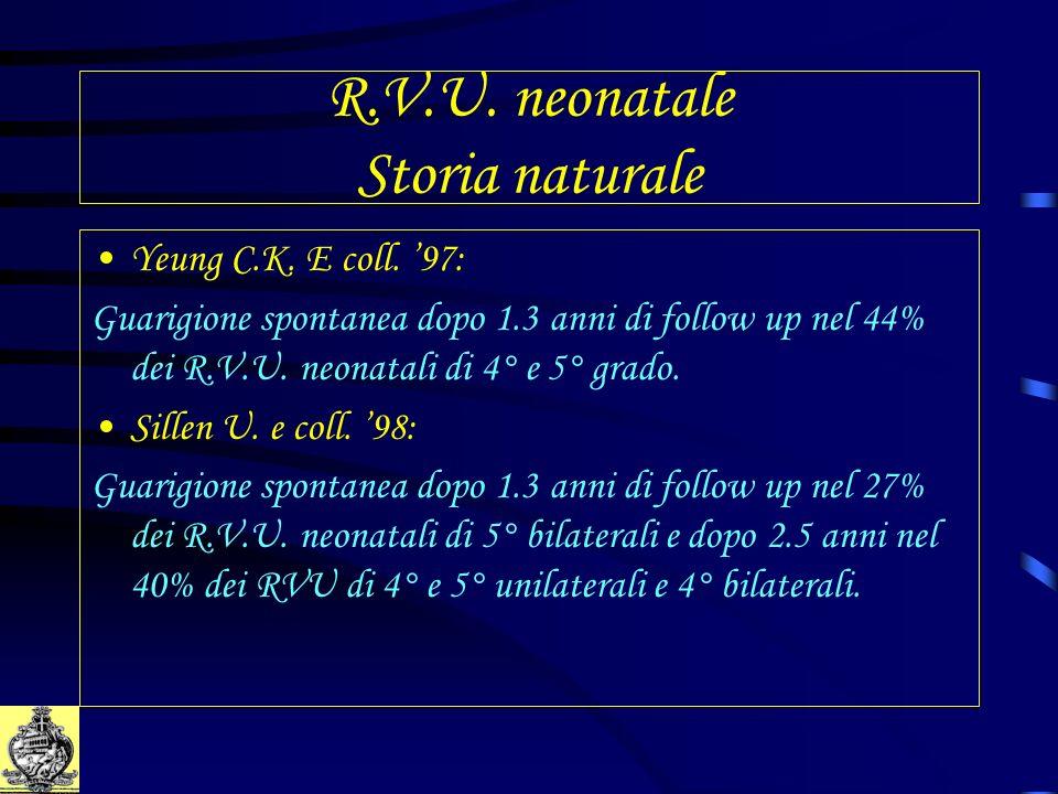 R.V.U. neonatale Storia naturale