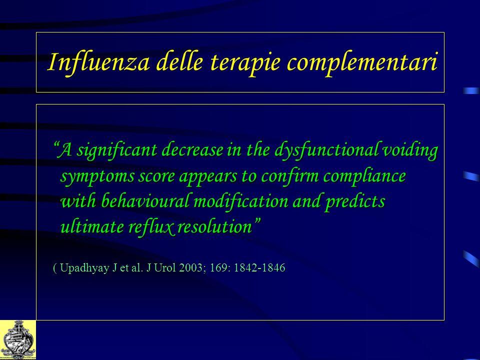 Influenza delle terapie complementari