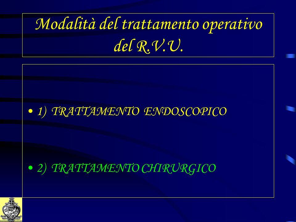Modalità del trattamento operativo del R.V.U.