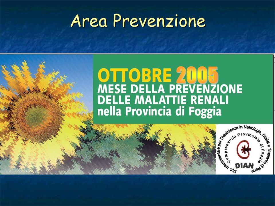 Area Prevenzione 2005
