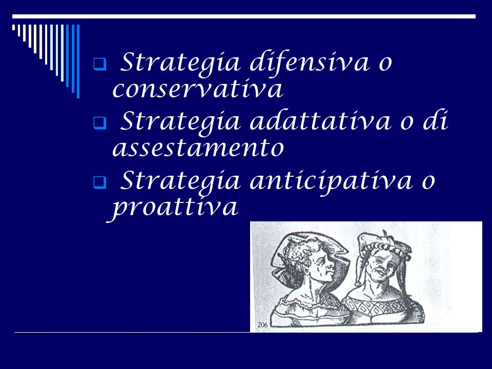 Strategia difensiva o conservativa