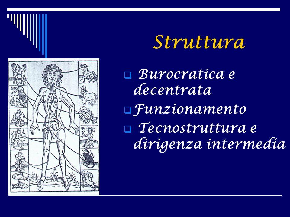 Struttura Burocratica e decentrata Funzionamento