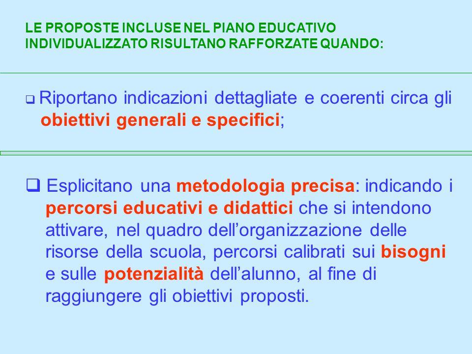 obiettivi generali e specifici;