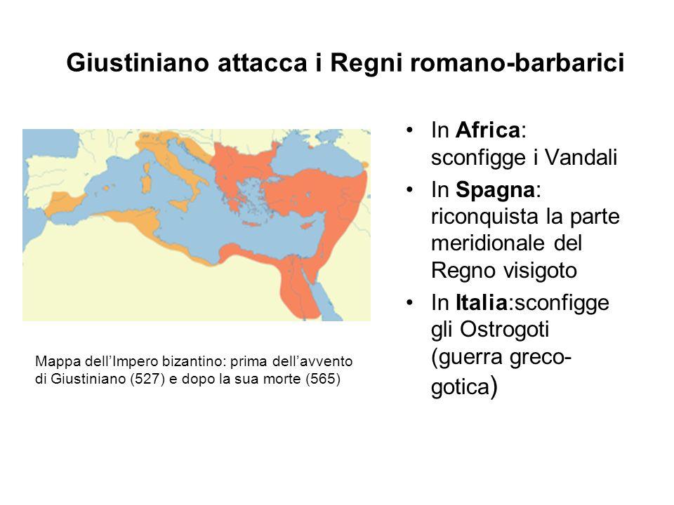 Giustiniano attacca i Regni romano-barbarici