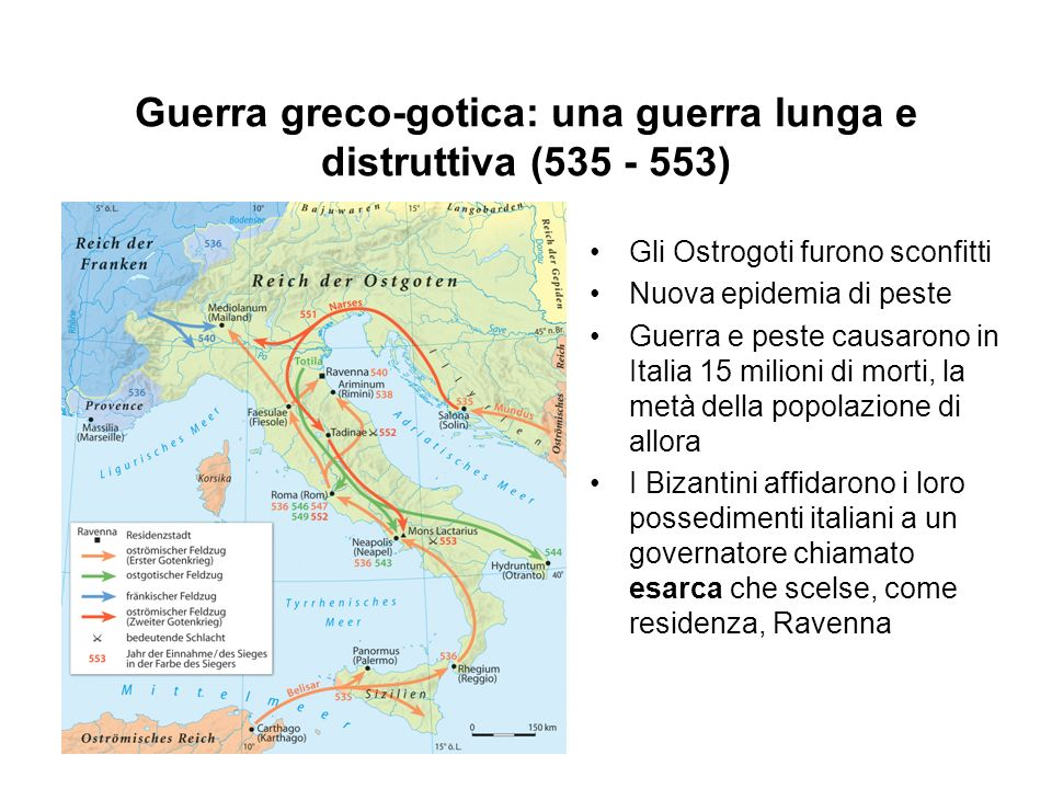 Guerra greco-gotica: una guerra lunga e distruttiva (535 - 553)