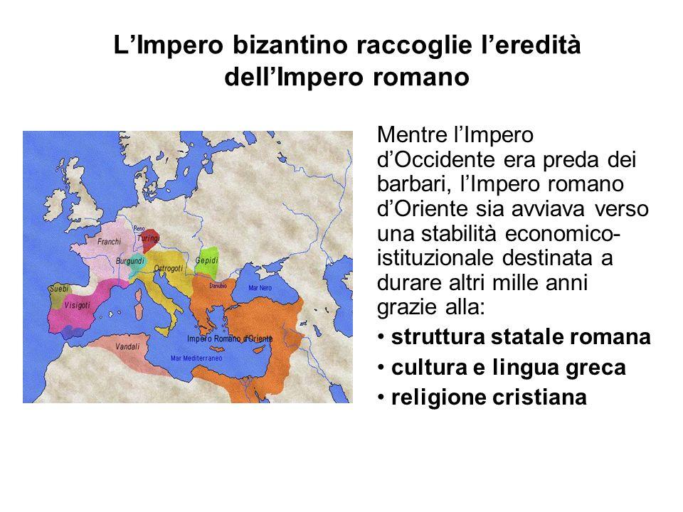 L'Impero bizantino raccoglie l'eredità dell'Impero romano