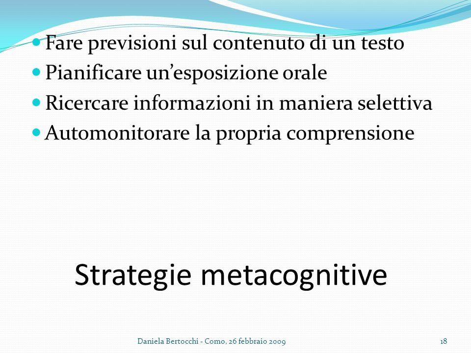 Strategie metacognitive