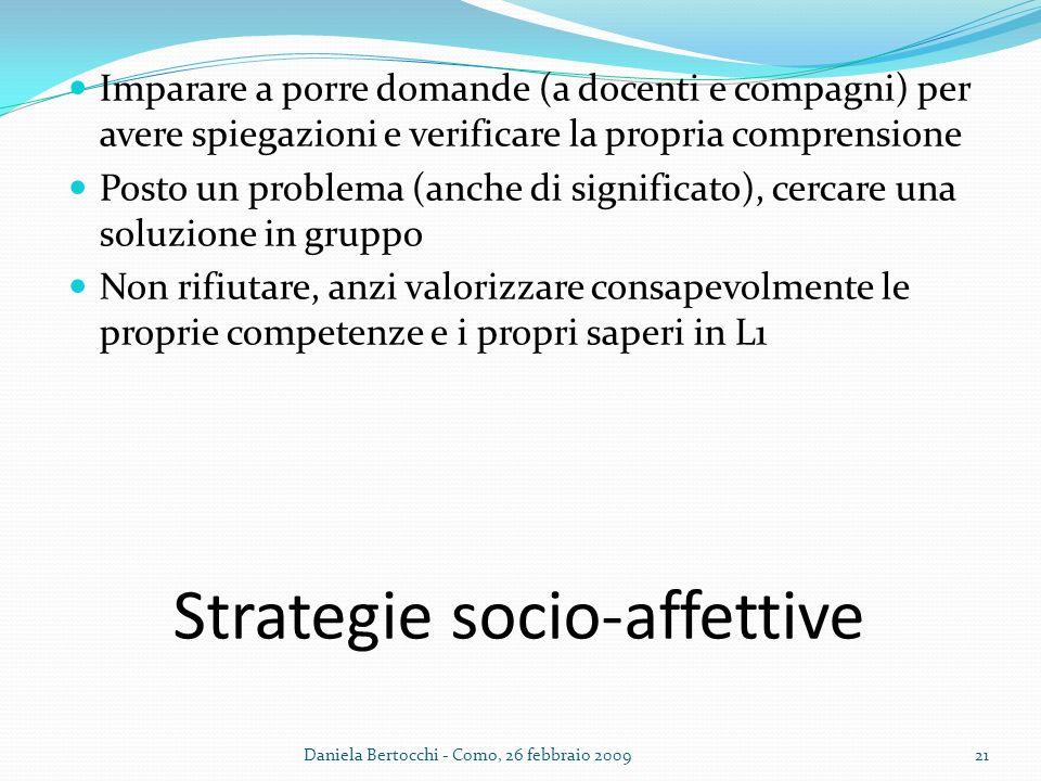 Strategie socio-affettive