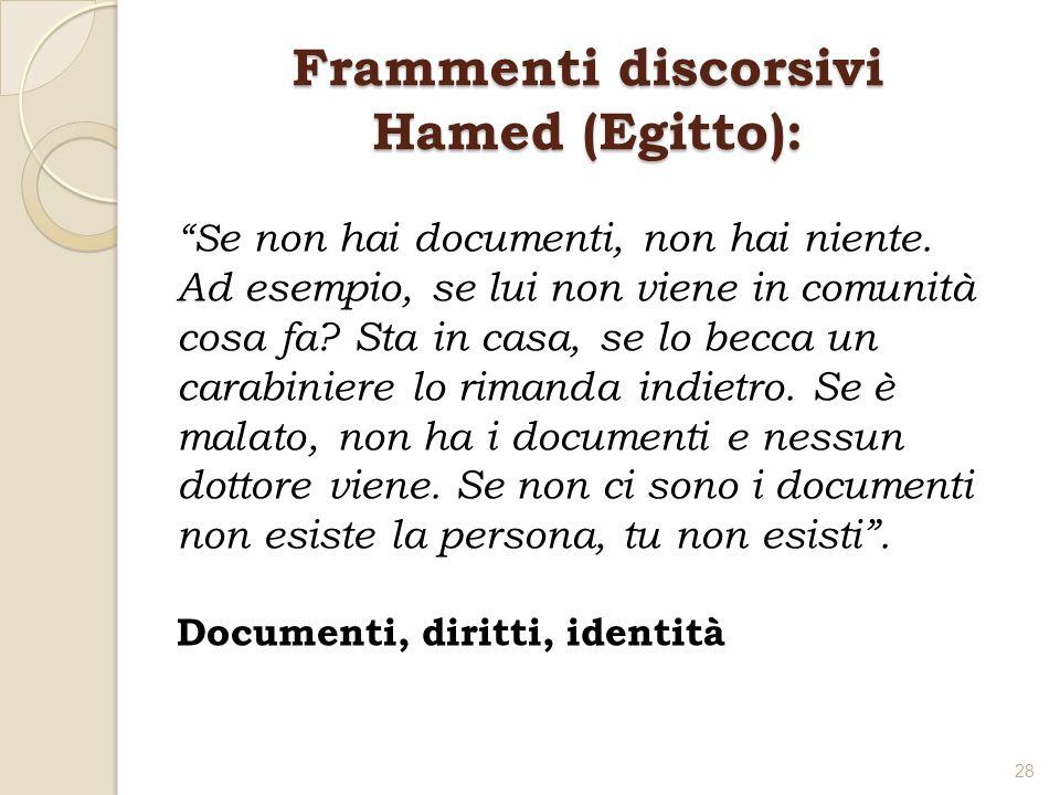 Frammenti discorsivi Hamed (Egitto):