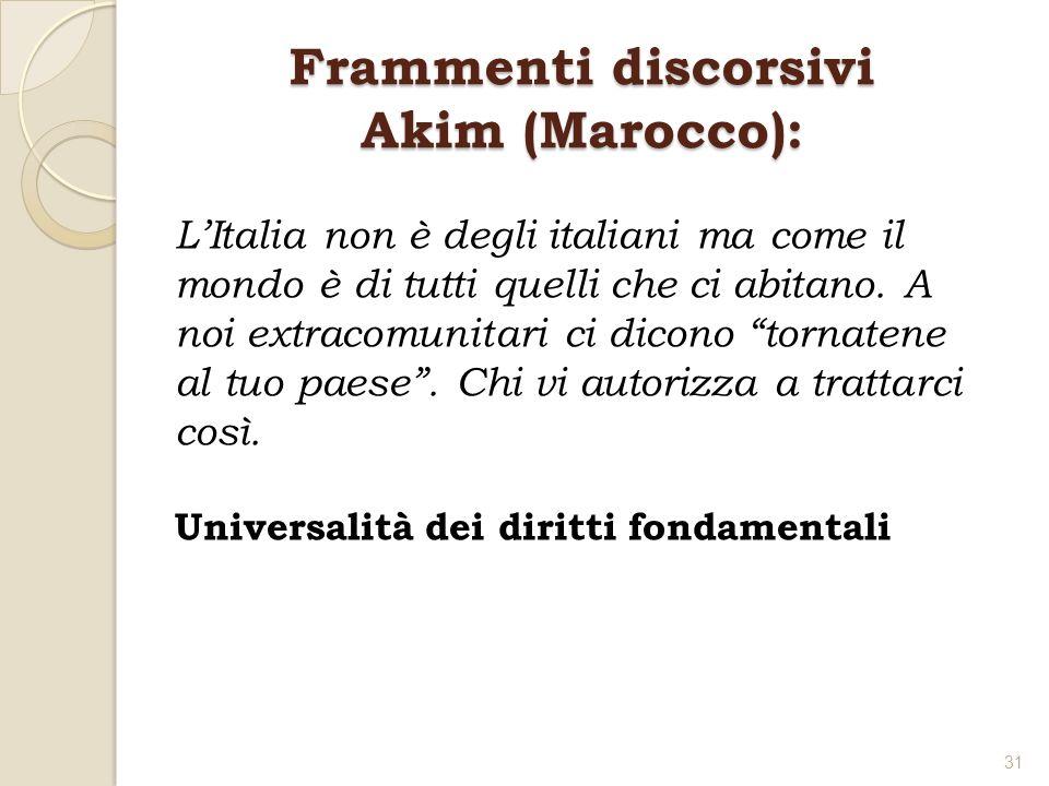 Frammenti discorsivi Akim (Marocco):