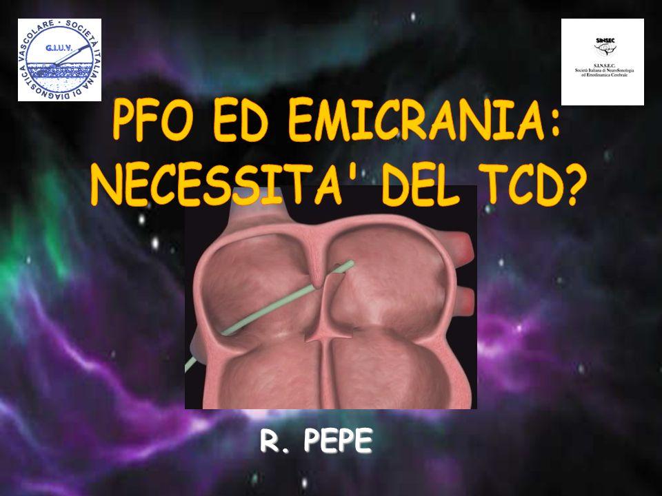PFO ED EMICRANIA: NECESSITA DEL TCD