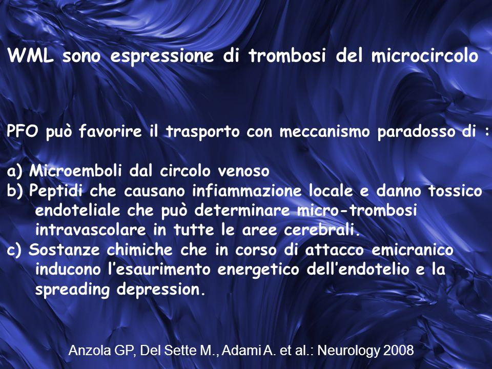 WML sono espressione di trombosi del microcircolo
