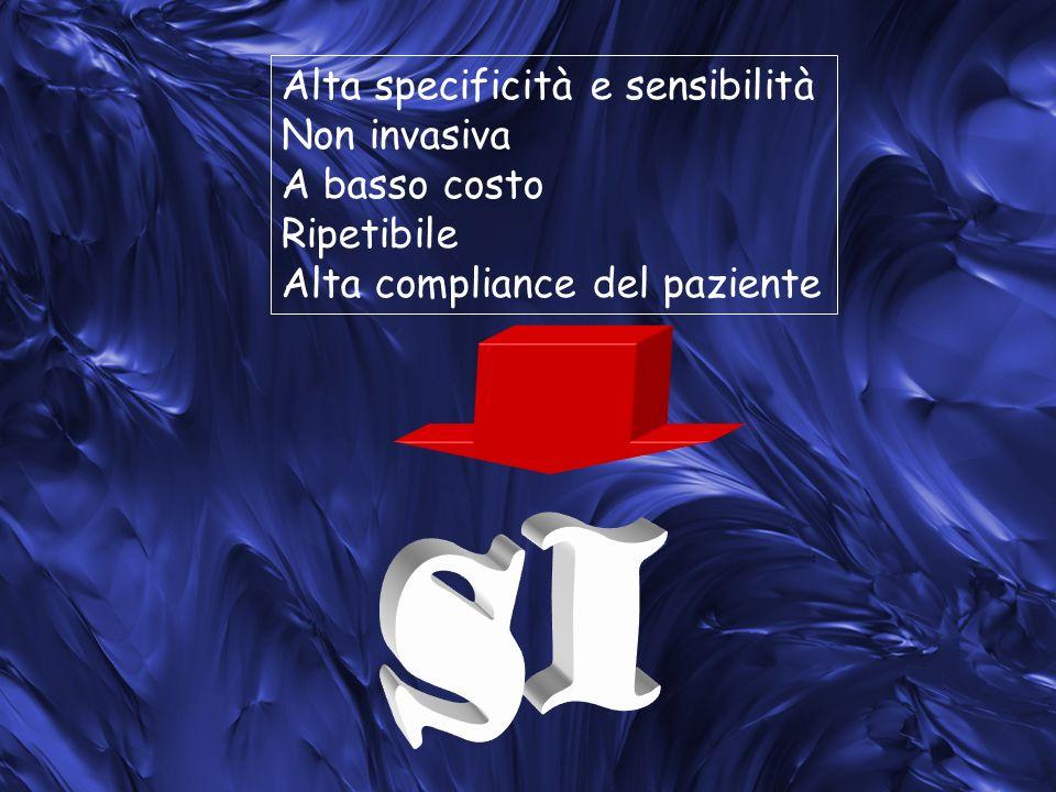 SI Alta specificità e sensibilità Non invasiva A basso costo