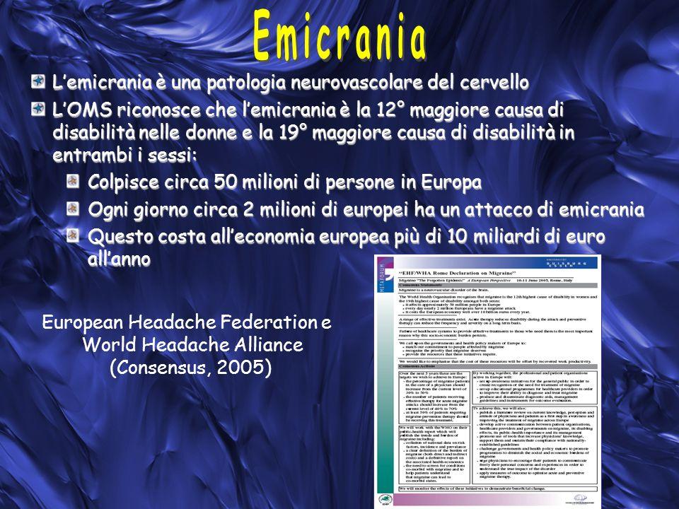 Emicrania L'emicrania è una patologia neurovascolare del cervello