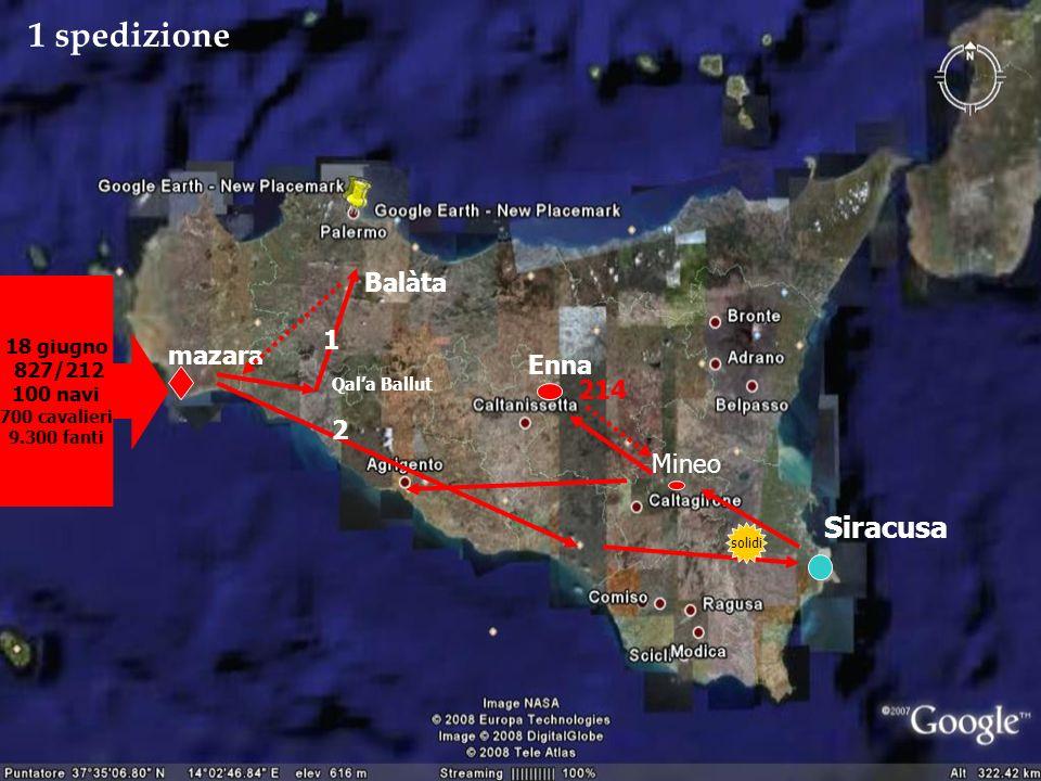 1 spedizione Siracusa Balàta 1 mazara Enna 214 2 Mineo 18 giugno