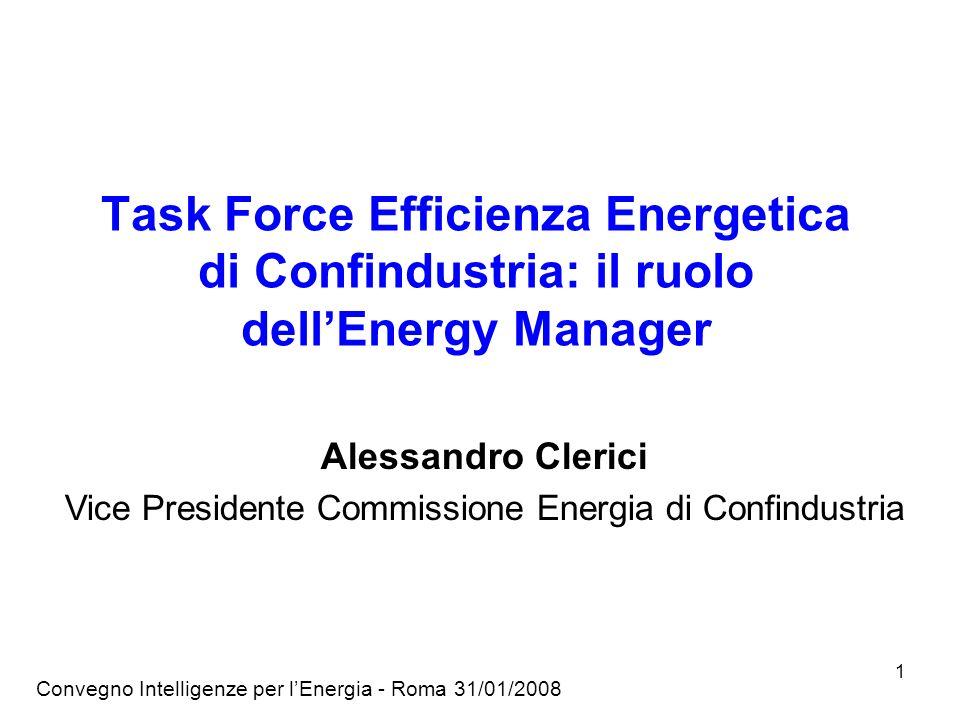Vice Presidente Commissione Energia di Confindustria