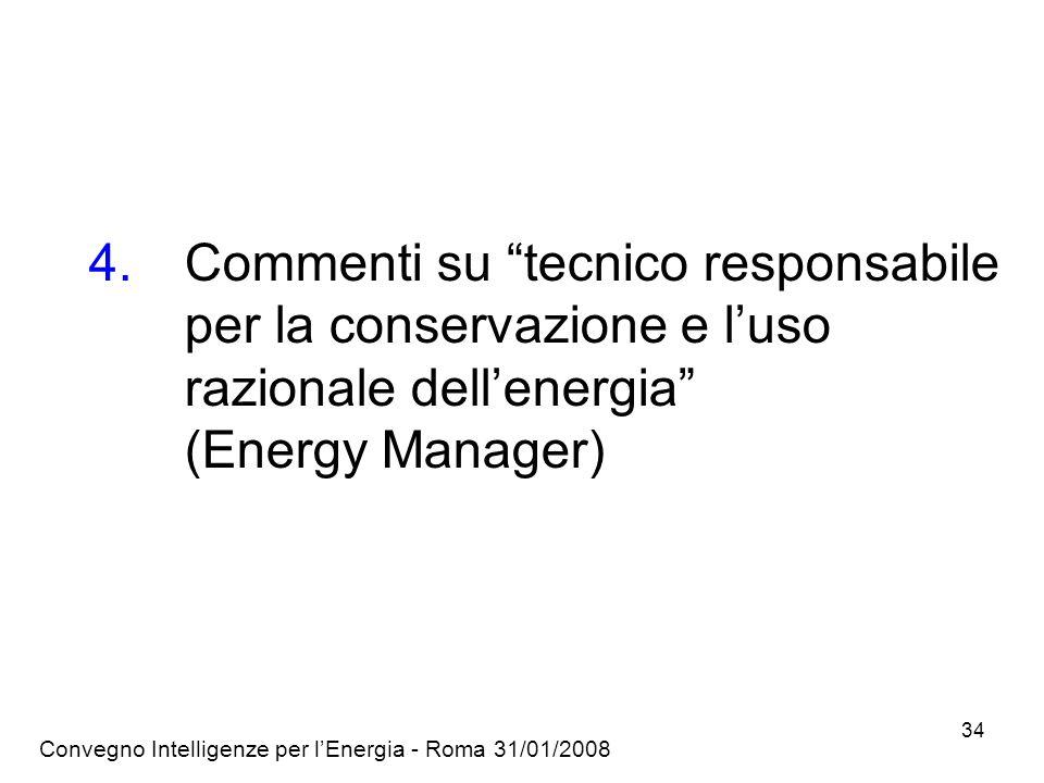 Commenti su tecnico responsabile per la conservazione e l'uso razionale dell'energia (Energy Manager)