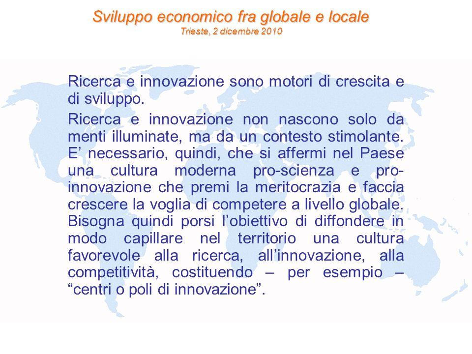 Ricerca e innovazione sono motori di crescita e di sviluppo.