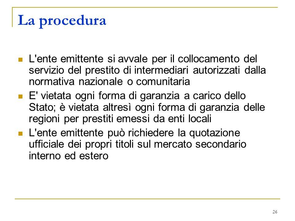 La procedura