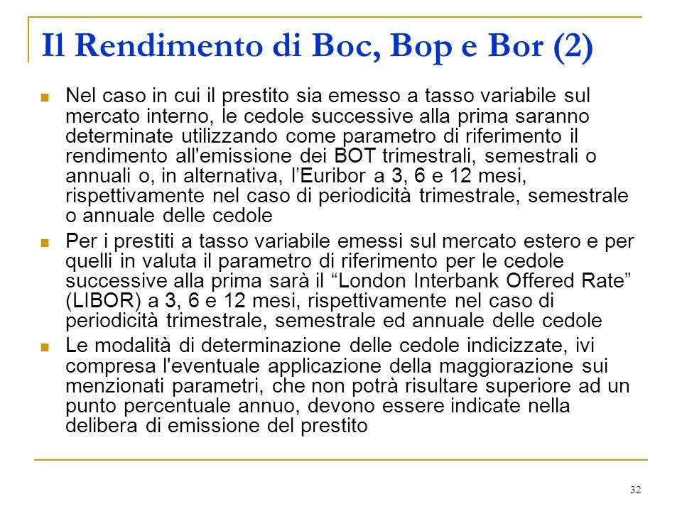 Il Rendimento di Boc, Bop e Bor (2)