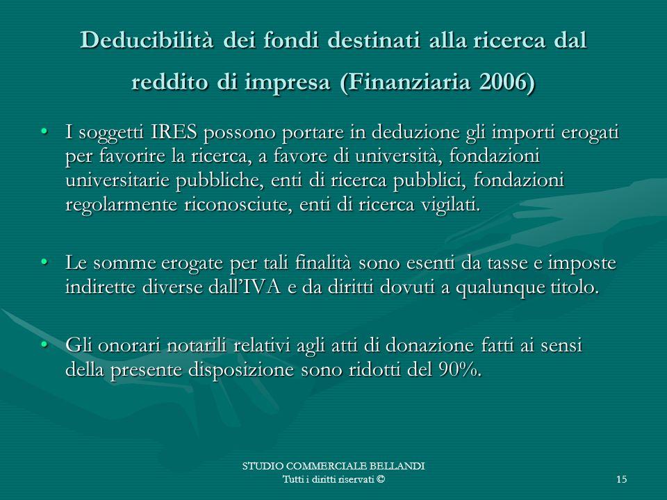 STUDIO COMMERCIALE BELLANDI Tutti i diritti riservati ©
