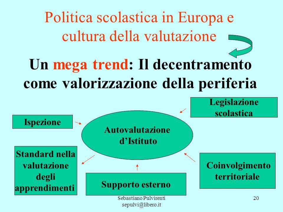 Politica scolastica in Europa e cultura della valutazione