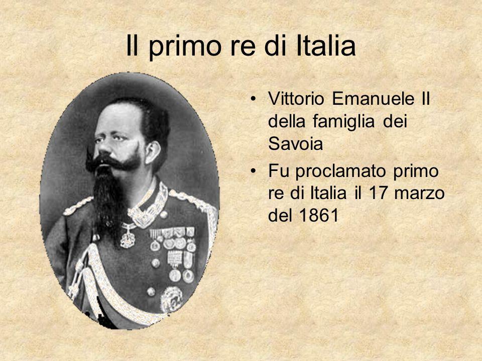 Il primo re di Italia Vittorio Emanuele II della famiglia dei Savoia