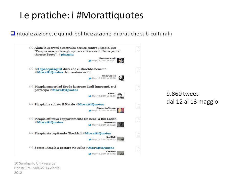 Le pratiche: i #Morattiquotes