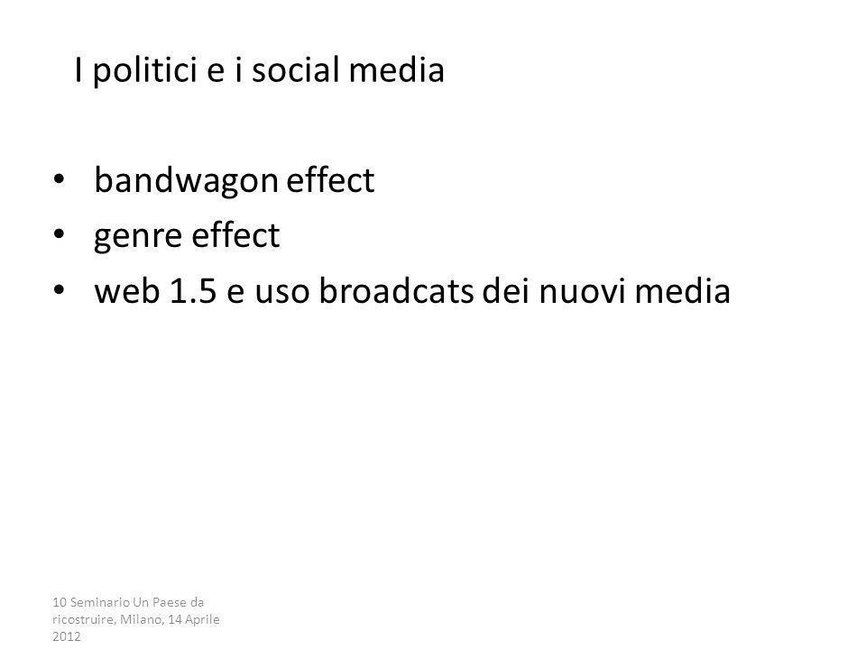 I politici e i social media