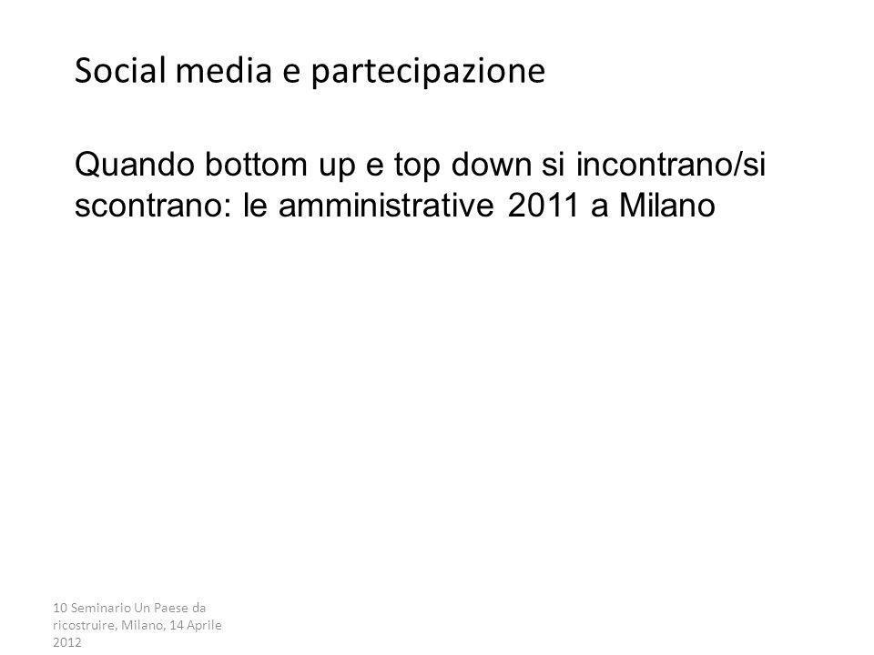 Social media e partecipazione