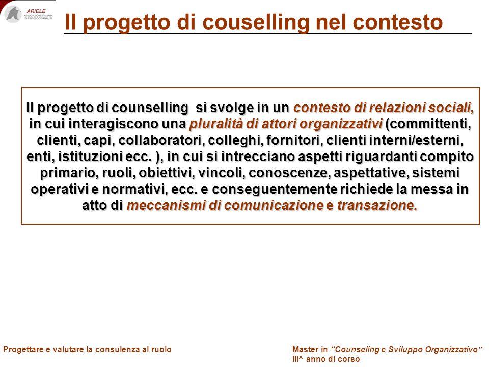 Progettare e valutare la consulenza al ruolo