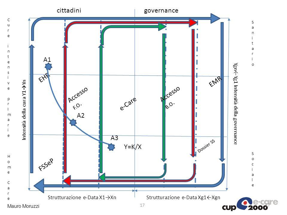 cittadini governance A1 EHR EMR Accesso F.O. Accesso e-Care A2 A3