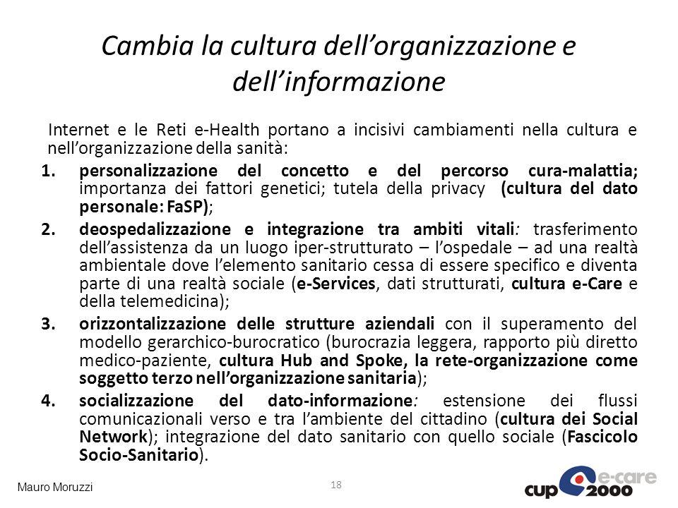 Cambia la cultura dell'organizzazione e dell'informazione