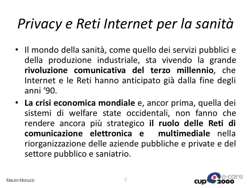 Privacy e Reti Internet per la sanità