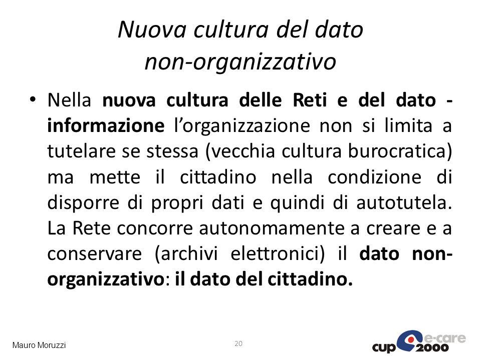 Nuova cultura del dato non-organizzativo