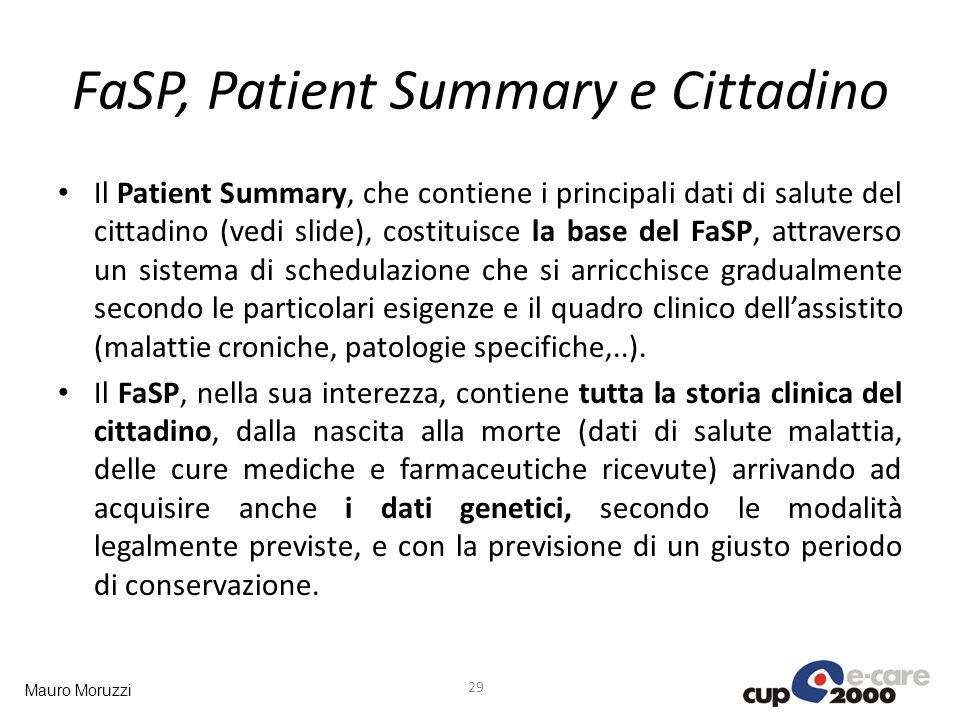 FaSP, Patient Summary e Cittadino