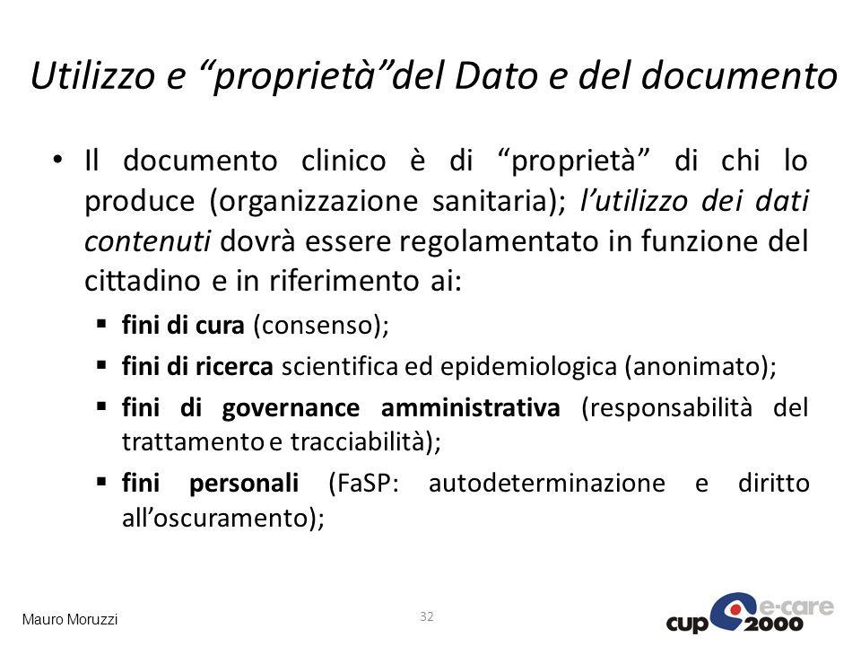 Utilizzo e proprietà del Dato e del documento
