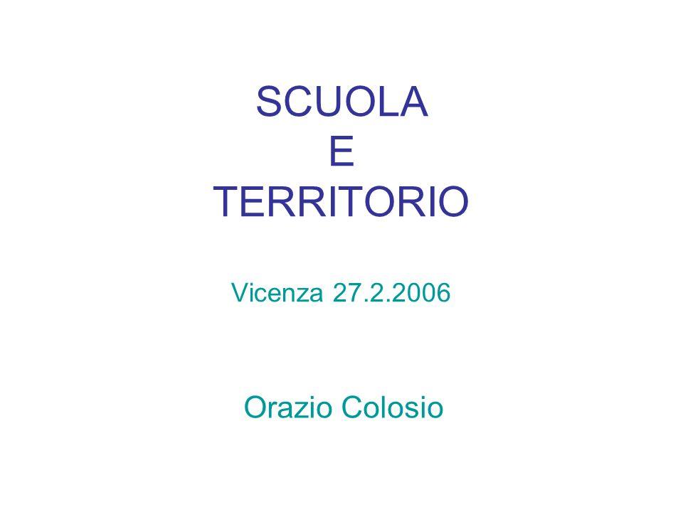 SCUOLA E TERRITORIO Vicenza 27.2.2006