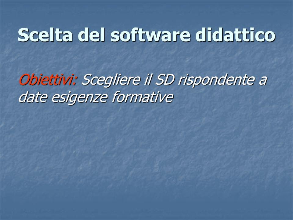 Scelta del software didattico